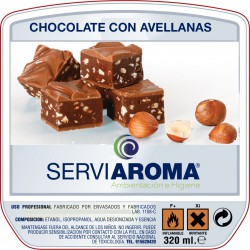 CHOCOLATE CON AVELLANAS